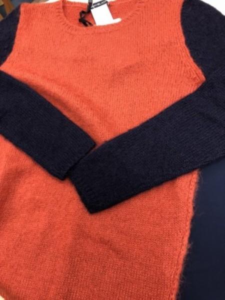 ニット×カットソーの変形セーター(PENNYBLACK)