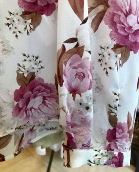 絹100%花柄ブラウス(MARELLA)
