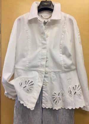 MARELLAマレーラ白の綿ジャケット