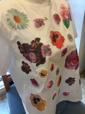MARELLAマレーラ花のTシャツ