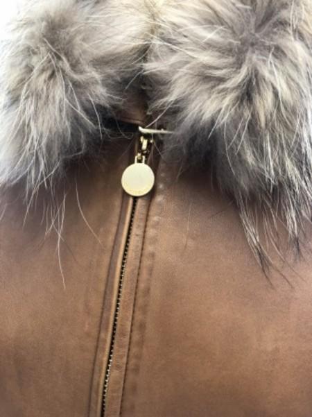 ファー付き羊革ジャケット(PENNYBLACK)