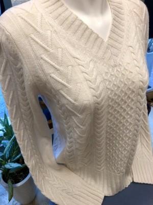 V衿のベーシックセーター(MARELLAマレーラ)